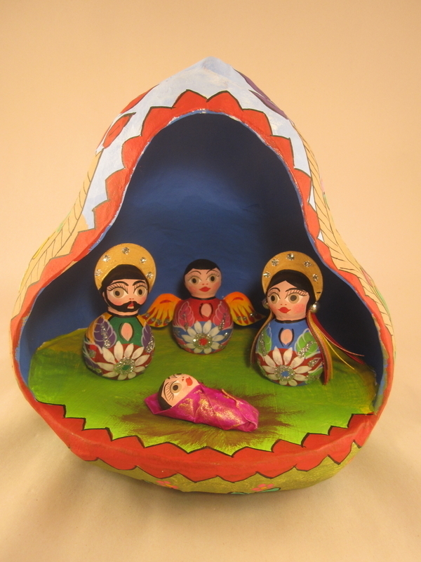 nativity in gourd