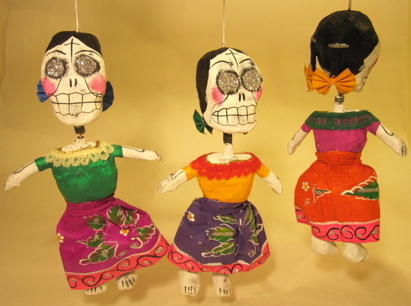 La Muerte Calavera | Day of the Dead Ornaments, Paper Mache