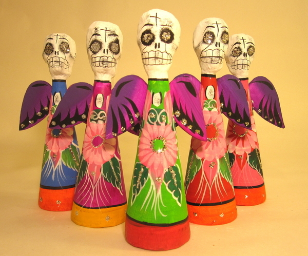Boy Angel of Death | Day of the Dead Ornaments, Paper Mache