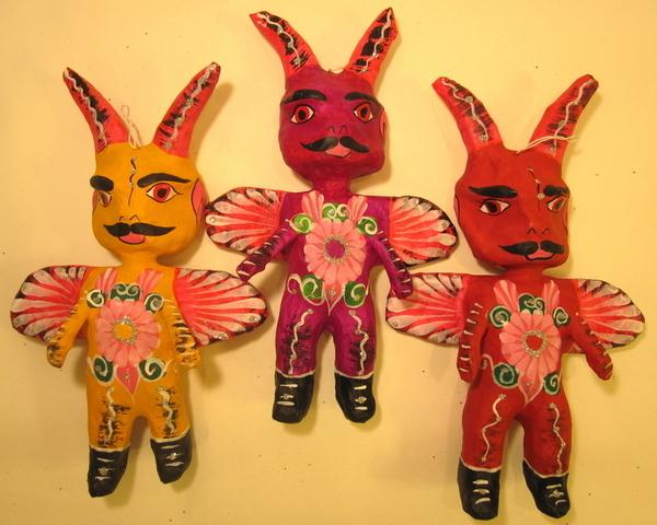 Devil Ornament | Day of the Dead Ornaments, Paper Mache