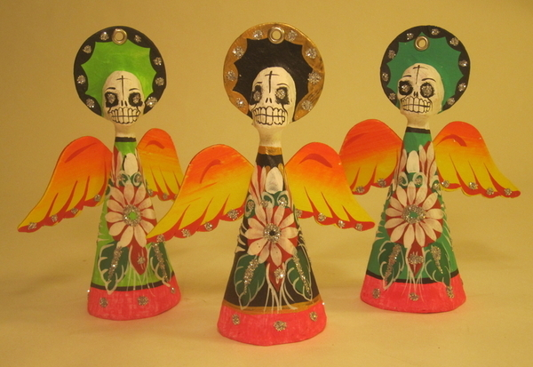 Boy Angel of Death Ornament   Day of the Dead Ornaments, Paper Mache