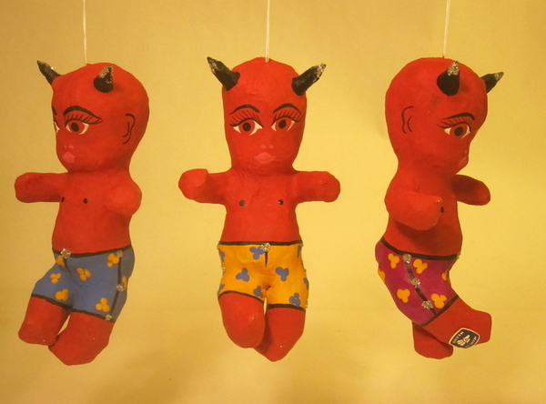 Devil Baby Boy | Day of the Dead Ornaments, Paper Mache