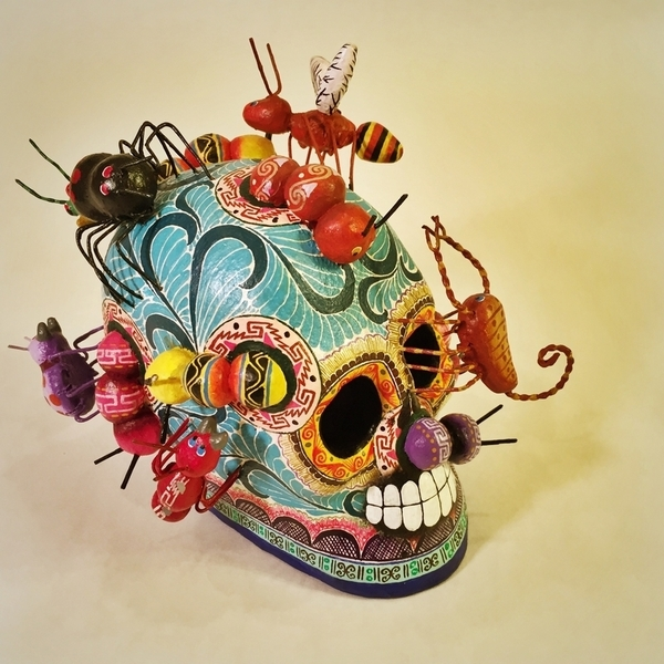 Afterlife Skull | Day of the Dead Clay Work