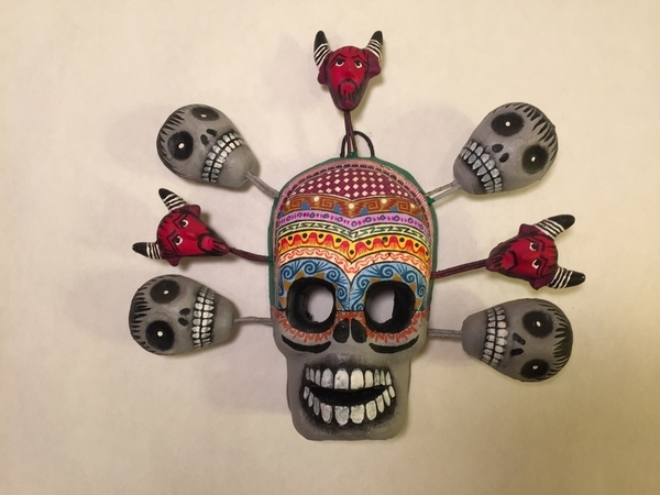 Skull with Angels of Death | Day of the Dead Clay Work