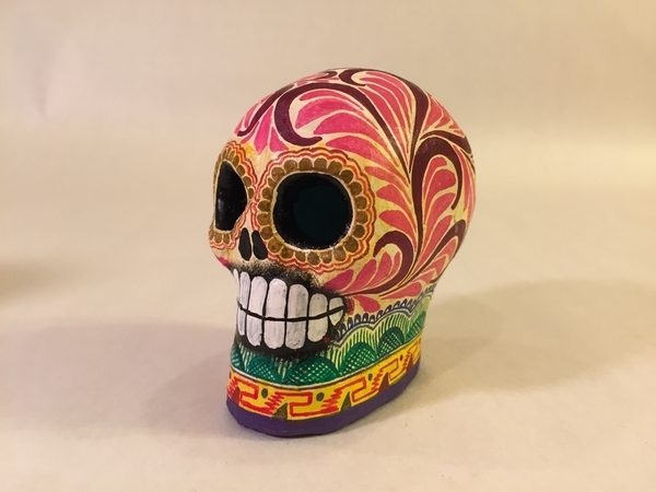 Painted Calavera, Small | Day of the Dead Clay Work