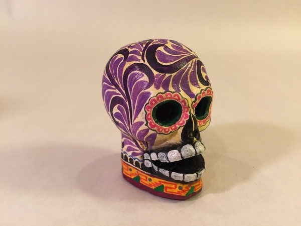 Painted Calavera, Mini | Day of the Dead Clay Work