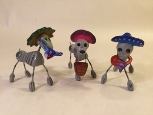 Day of Dead Dogs | Day of the Dead Clay Work