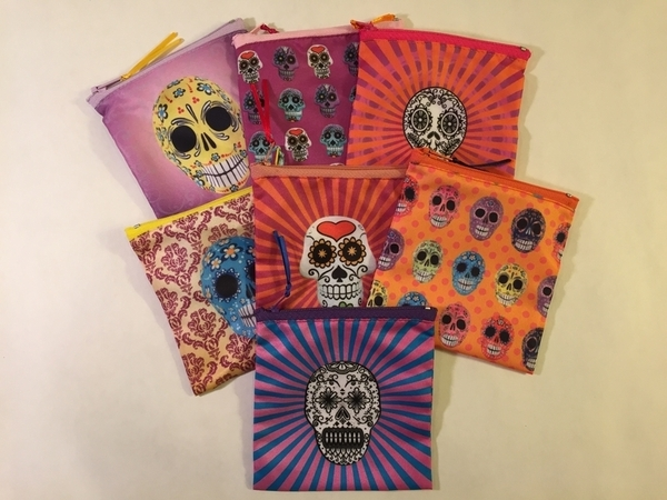 Calavera Pouches | Day of the Dead Market Bags and Totes