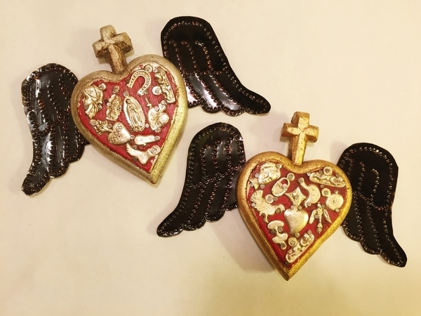 Miniature SH with Milagros   Milagro Woodcarvings