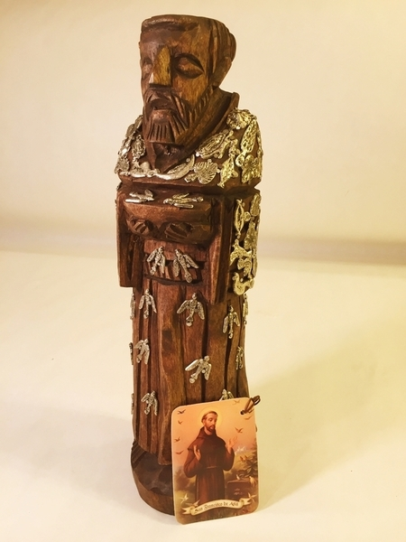 Saint Francis with Milagros | Milagro Woodcarvings