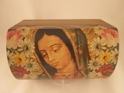 Guadalupe Coffer Box, Small | Decorative Religious Boxes