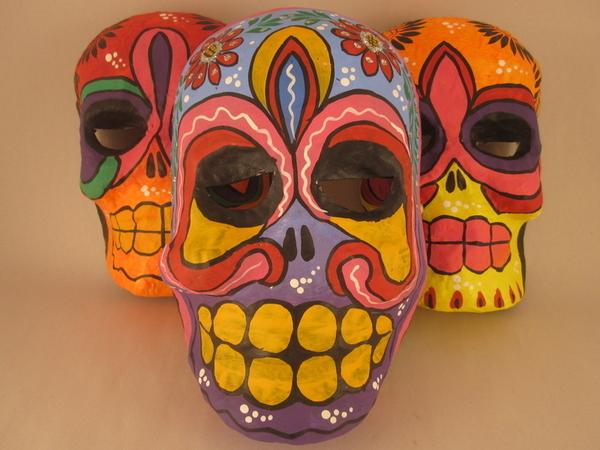 Day of the Dead Calavera Mask | Day of the Dead Ornaments, Paper Mache