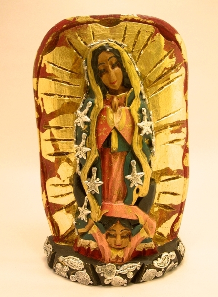 Virgin of Guadalupe, Small | Milagro Woodcarvings