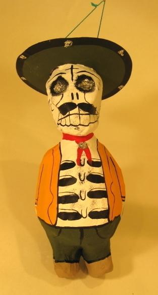 Pancho Calavera | Day of the Dead Ornaments, Paper Mache