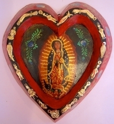 Guadalupe in Heart | Milagro Woodcarvings