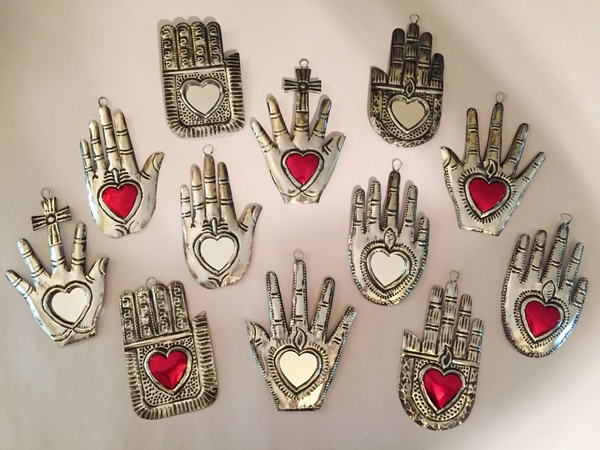 Set of 10 Small Tin Healing Hands | Healing Hands, Assorted