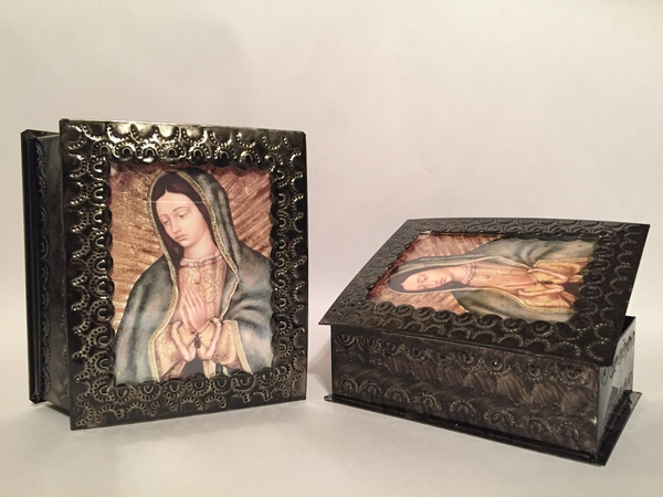 Tin Guadalupe Box, Large | Decorative Religious Boxes