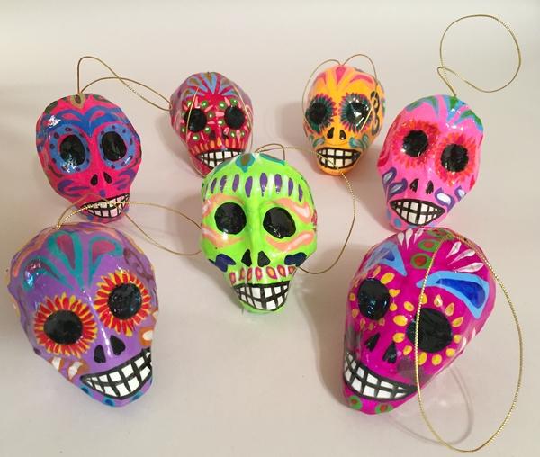 Colorful Calaverita | Day of the Dead Ornaments, Paper Mache
