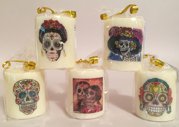 Catrina Votive Candle, S/5 | More Day of the Dead...
