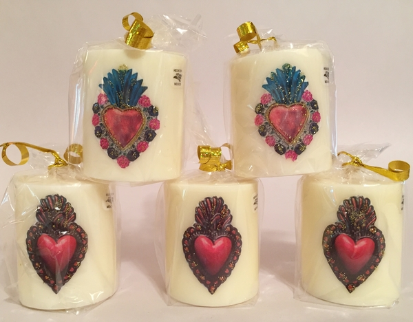 Sacred Heart Votive, S/5   Votive Candles