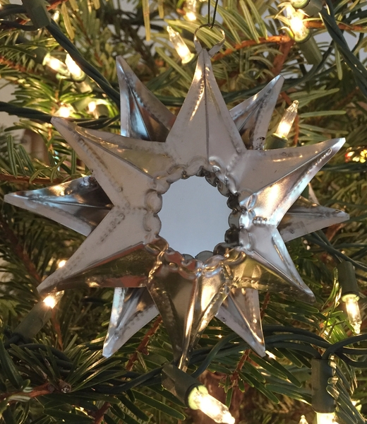 Tin Star Ornament with Reflecting Mirror | Christmas Ornaments, Tin