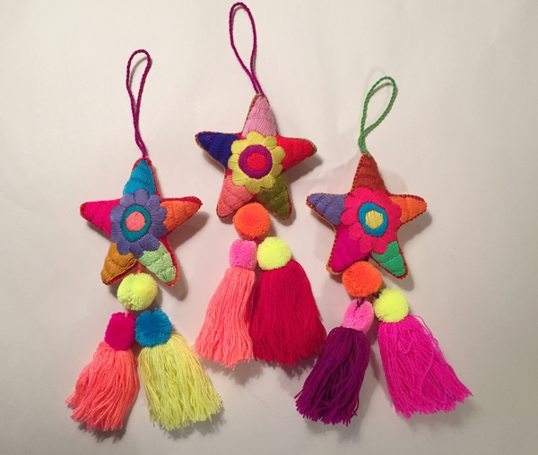 Embroidered Star Ornament | Christmas Ornaments, Embroidered