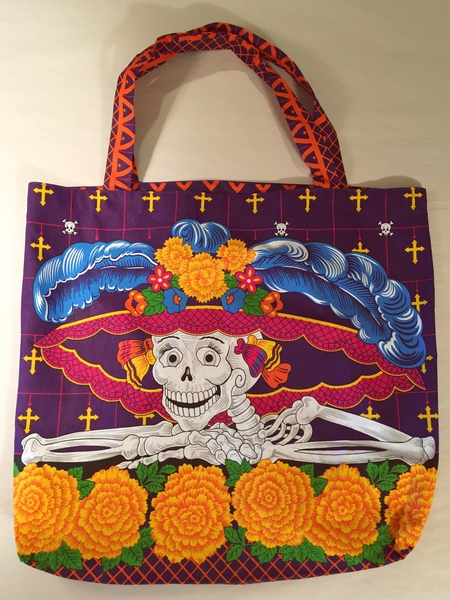 Smiling Catrina Tote | Day of the Dead Market Bags and Totes