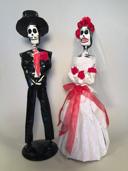 Bride and Groom, Paper Mache |  Sale Items