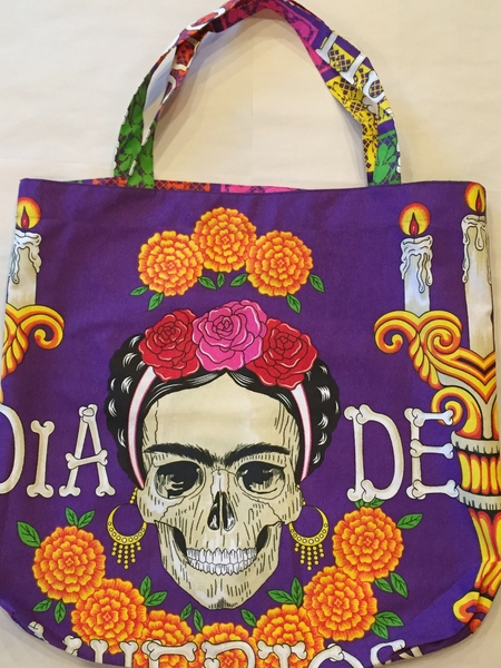 Frida Calavera Tote | Day of the Dead Market Bags and Totes