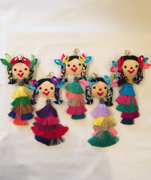 Fancy Maria Keychain | Mexican Maria Dolls