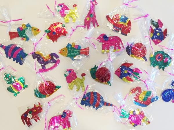Assorted Animal Tin Ornaments, S/10   Christmas Ornaments, Tin