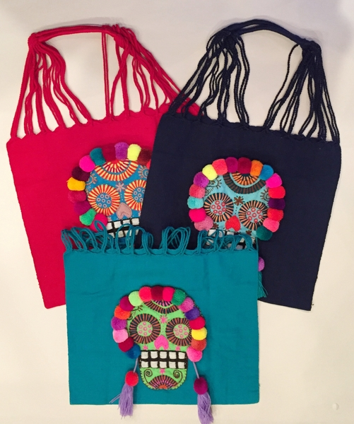 Loom Embroidered Tote with Catrina | Market Bags and Totes