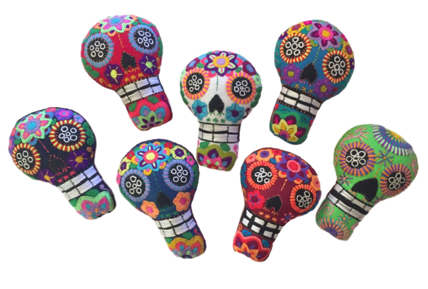 Extra Large Calavera Ornament | Christmas Ornaments, Embroidered