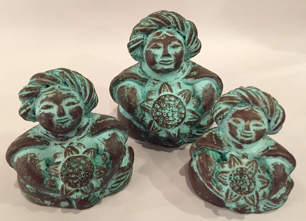 Women with Sunflowers | Crafted in Clay