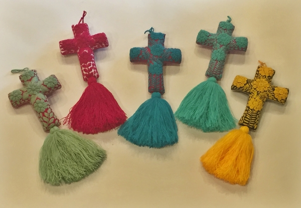 Hand Embroidered Cross | Christmas Ornaments, Embroidered