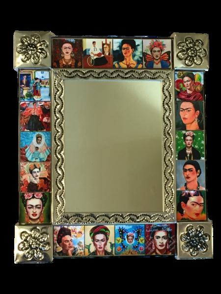 Frida Mirror with Tiles | Frida Nichos & Tin Designs