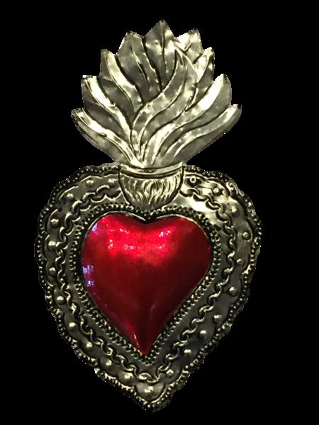 Tin Sacred Heart, Large, (D)   Tin Sacred Hearts