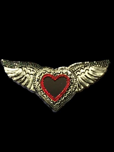 Tin Sacred Heart with Mirror, Large, (C) | Tin Sacred Hearts
