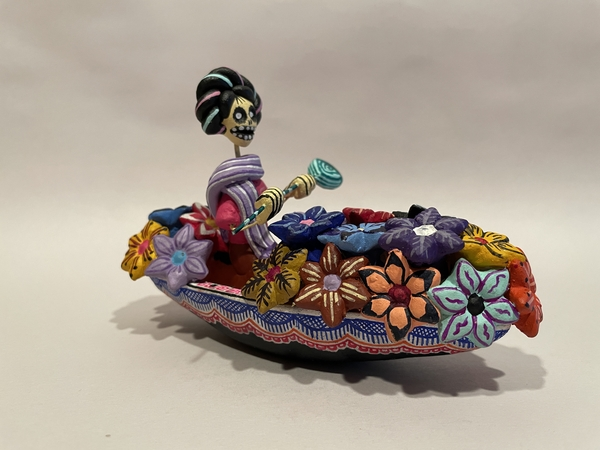 Frida in Chalupa | Day of the Dead Clay Work