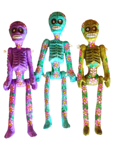 Day of the Dead Skeleton, Extra Large | Day of the Dead Ornaments, Paper Mache