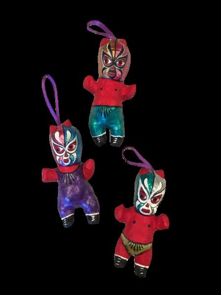 Devil Lucha Baby Ornament   Day of the Dead Ornaments, Paper Mache
