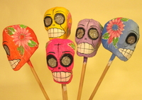 Image Colorful Calavera Maracas