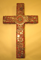 Image Large Tutelar Cross with Milagros