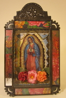Image Small Antiqued Virgin Nicho, Color