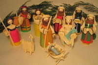 Image Corn Husk Nativity, Small