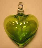 Image Jade Green Blown Glass Heart
