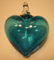 Image Aquamarine Blown Glass Heart