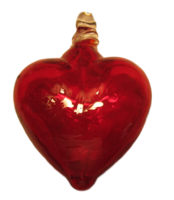 Image Blown Glass Hearts