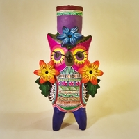 Image Owl with Flowers Candelabra