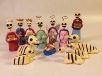 Image Day of the Dead Nativity Set